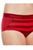Icebreaker Sprite Hot Pants Women oxblood/rocket/stripe